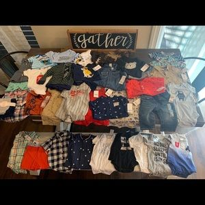 Other - 37 pieces baby boy clothing brand NWT 0-6 months